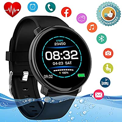 Smart Watch,Fitness Watch Activity Tracker with Heart Rate Monitor IP67 Waterproof Smartwatch Andriod Sport Wrist Watch Wristband Fitness Tracker for Andriod iOS Phones Samsung Huawei Men Women Kids