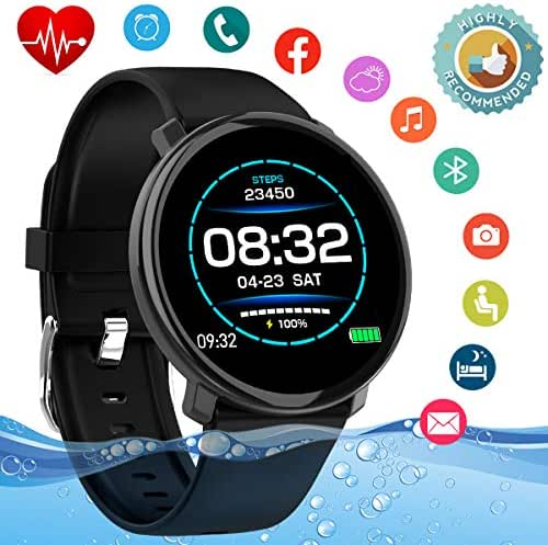 Smart Watch,Fitness Activity Tracker Watch with Heart Rate Blood Pressure Monitor Waterproof Sport Fitness Tracker Watch Smart Bracelet Wristband for Android iOS Phones Samsung Huawei Men Women Kids