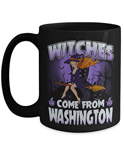Halloween Mugs Coffee, Best Gift Halloween Day - Witches come from Washington State Mug -