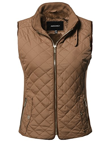Quilted Faux Suede Vest - 6