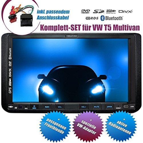 2DIN Autoradio CREATONE CTN-9268D56 für VW T5 Multivan (ab Facelift 09/2009) mit GPS Navigation, Bluetooth, Touchscreen, DVD-Player und USB/SD-Funktion