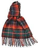 Lambswool Scottish Innes Red Modern Tartan Clan Scarf Gift
