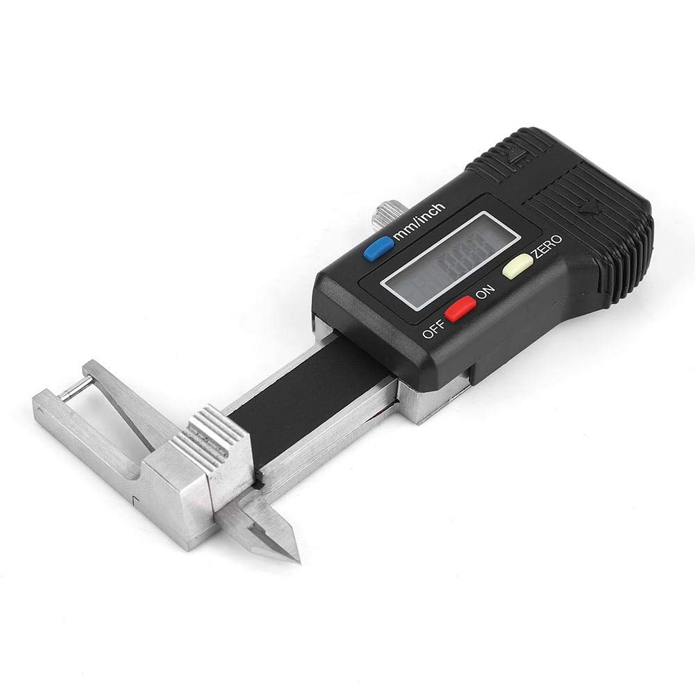 Gauge Digital Caliper Ruler,Mini Electronic Digital Display Gemstone Caliper for 0-25mm Jewelry Card Meter Thickness Gauge Triple Use Ruler Thickness Measuring Caliper Gauge