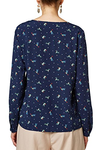 Esprit Blouse Navy Femme Multicolore 400 qUgHqxORzw