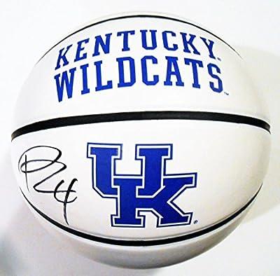 Rajon Rondo Signed Kentucky Wildcats Logo Basketball w Witness COA - JSA Certified - Autographed College Basketballs