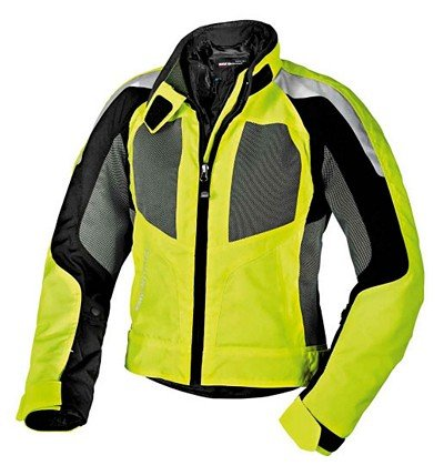 BMW Genuine Motorcycle WomenS Airshell Jacket EU-42 |USA-12 Neon Yellow/Gray