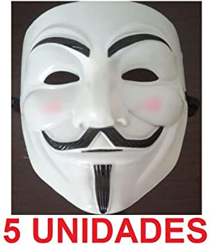 5 x MASCARA / CARETA V DE VENDETTA / VENDETA (5 UNIDADES) INDIGNADOS 15