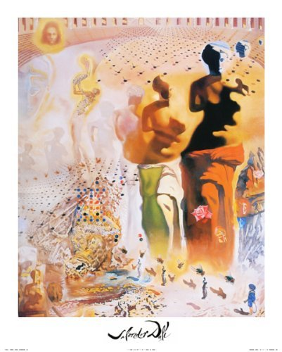 (Buyartforless Hallucinogenic Toreador (Bullfighting) by Salvador Dali 20x16 Art Print Poster Wall D'cor Famous Painting Surrealism)