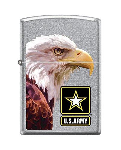 Zippo US Army Bald Eagle Street Chrome Pocket Lighter