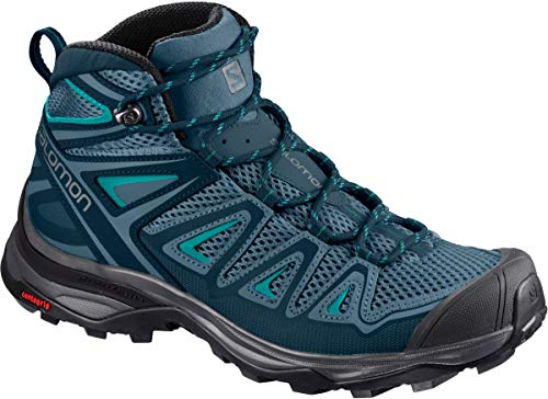 Salomon Women's X Ultra MID 3 AERO W Trail Running Shoe, Mallard Blue, 8 M US