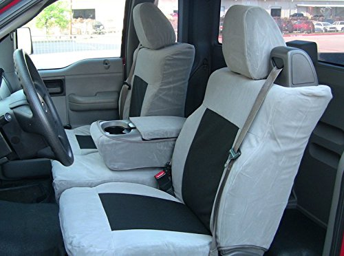 Durafit Seat Covers, FD9-L1- Ford F150 XLT Front and Back Seat Set. Front 40/20/40 Split Seat with Integrated Seatbelts. Rear 60/40 Split Seat in Black Leatherette