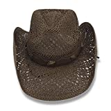 AccessHeadwear Old Stone Lacey Women's Cowboy Drifter Style Hat, Brown