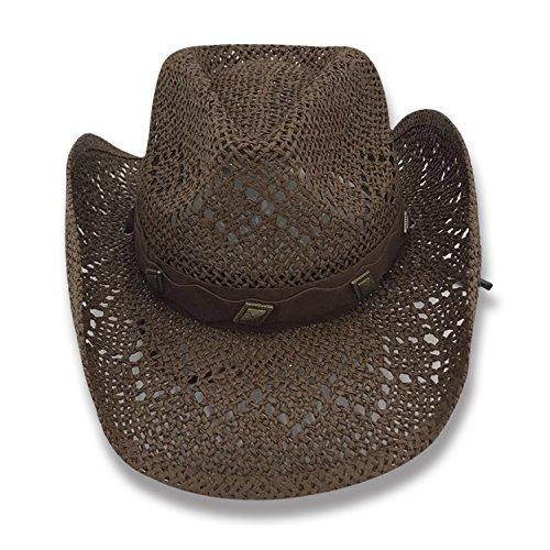 AccessHeadwear Old Stone Lacey Women's Cowboy Drifter Style Hat, Brown by AccessHeadwear