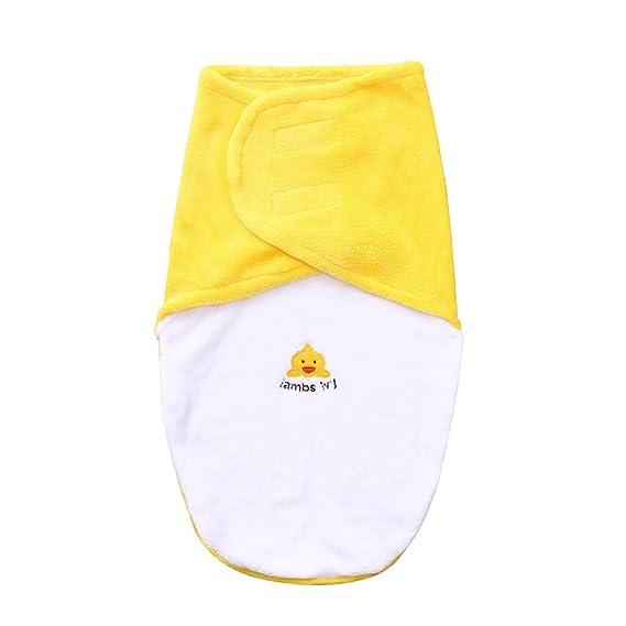 Mitlfuny Invierno Grueso Swaddle Wrap Franela Velcro Saco de Dormir para Bebé Niños Manto Envolvente Recién