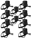 Retevis 2 Pin Speaker Mic for Baofeng UV-5R BF-888S BF-F8HP Kenwood Retevis H-777 RT21 RT22 RT27 H-777S Walkie Talkies (10 Pack)