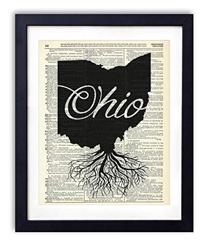 - Ohio Home Grown Upcycled Vintage Dictionary Art Print 8x10