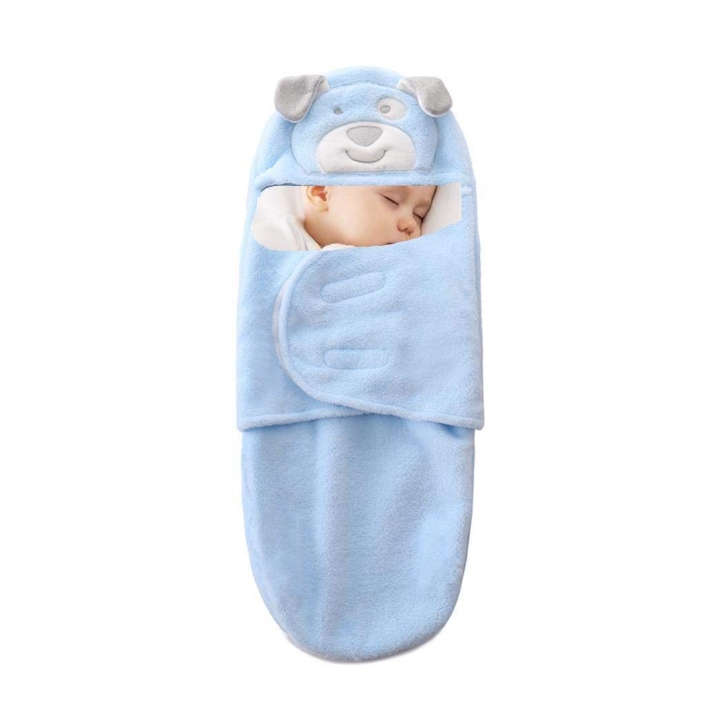 Benlet Dual-Layer Baby Flannel Wrap Swaddle Blanket Breathable Infant Sleeping Bag Receiving Blankets by Benlet