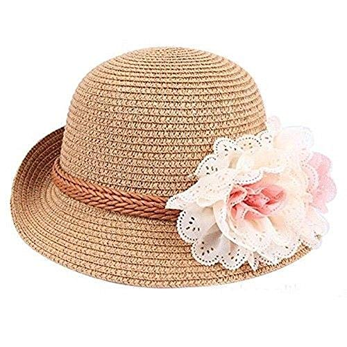 Specials On Khaki Fitted Beach Toddlers Sun Hats for Kids Girls Free Size (2-7 Years Old) Tkmiss from Unknown