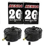 2-Pack Kenda 26x1.90/1.95/2.10/2.125 Schrader Valve MTB Bike Inner Tubes SV 26'