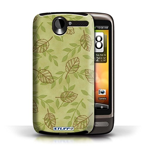 Etui / Coque pour HTC Desire G7 / Vert/Brown conception / Collection de Motif Feuille/Branche