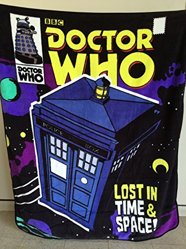 "DOCTOR WHO ""Lost in Time & Space!"" Throw Blanket"