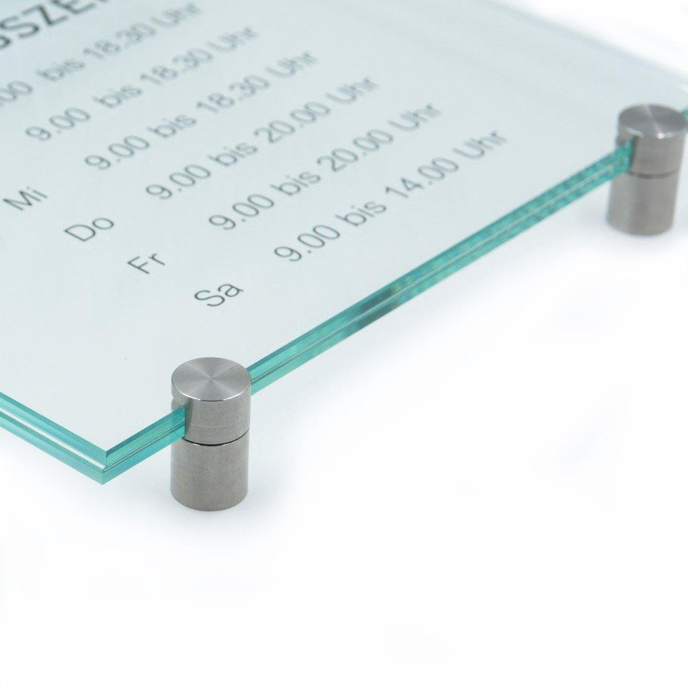 Klemmhalter T/ürschild Glas,Vitrum K 200//200 mm K4