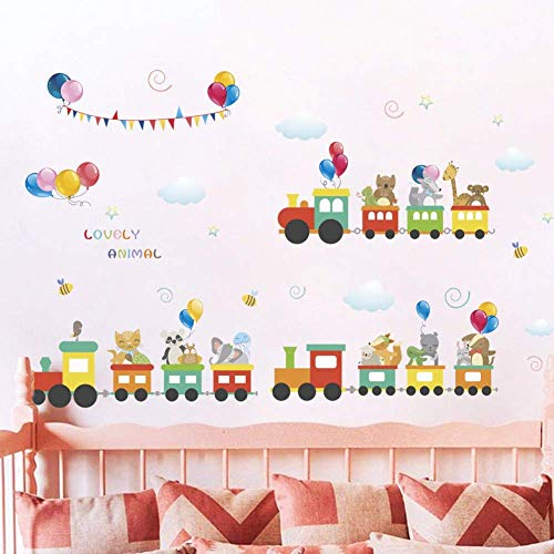 Used, Hddtwc Wall Sticker Cute Animal Train Wall Sticker for sale  Delivered anywhere in USA
