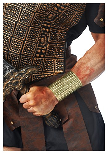 Gold Costume Men (Costume Culture Men's Gladiator Stud Wrist Cuff, Gold, One Size)