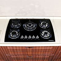 WindMax(R) 30 Tempered Glass 3.3KW/h (11259 Btu/h) Built-in Kitchen 5 Burner Oven Gas Cooktops