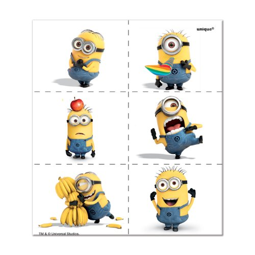 Despicable Me Minions Temporary Tattoos