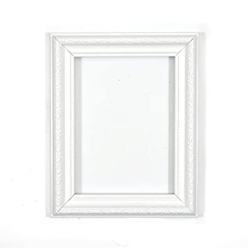 white 8 x 6 ready to hang or stand ornate shabby chic picture rh amazon co uk white shabby chic photo frames white shabby chic picture frames uk