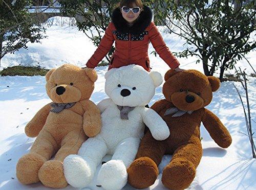 100cm 40inch White Giant Large Size Teddy Bear Stuffed Plush Toys Birthday Gifts