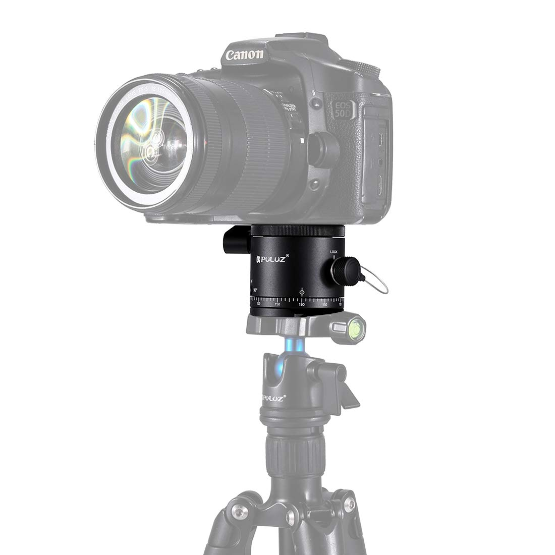 XIAOMIN Aluminum Alloy Panoramic Indexing Rotator Ball Head for Camera Tripod Head Premium Material by XIAOMIN