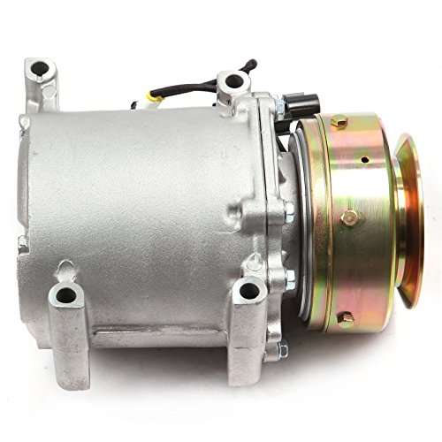 SCITOO Compatible with Auto Repair Compressor Assembly CO 10379T, AC Compressor and A/C Clutch Kit fit 1997-2004 Mitsubishi Montero Sport V6