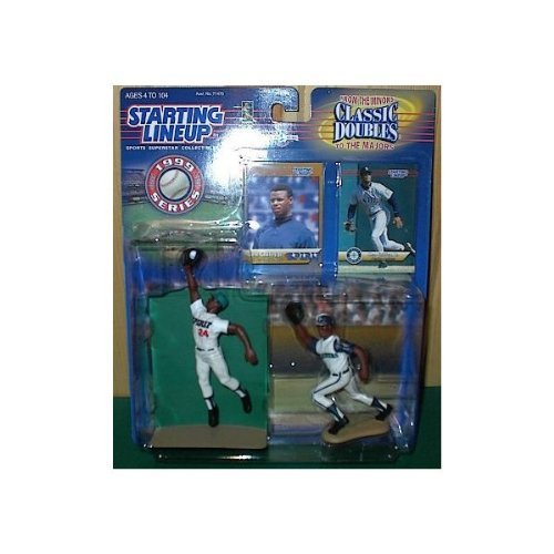 - Ken Griffey, Jr. Action Figures From the Minors and the Majors - San Berandino Spirit and the Seattle Mariners Uniforms - 1999 Series Starting Lineup Classic Doubles MLB Baseball Sports Collectible