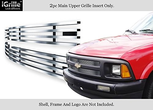 - APS Compatible with 1994-1997 Chevy S-10 S10 Pickup Stainless Steel Chrome Billet Grille Insert S18-S61756C