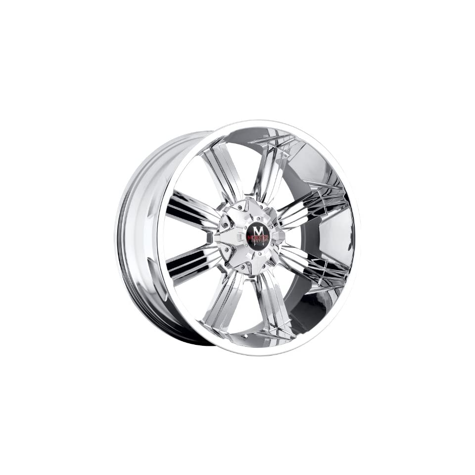 Off Road Monster M03 17 Chrome Wheel / Rim 5x5 & 5x135 with a 0mm Offset and a 87.1 Hub Bore. Partnumber M03750000