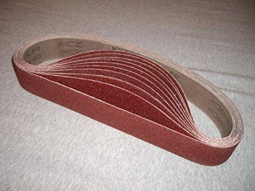 "1-1/2"" x 30"" Sanding Belt Grit 60 120 320 (70 Pieces) Aluminum Oxide for Hardin Metabo Pipe Polisher Sander metal de-rust rust remove wood polishing plastic deburring iron de-rust abrasive belt"