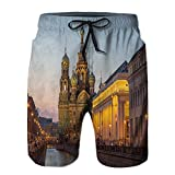 Men's Print Shorts,The Church of The Savior on Spill Stretch Board Short