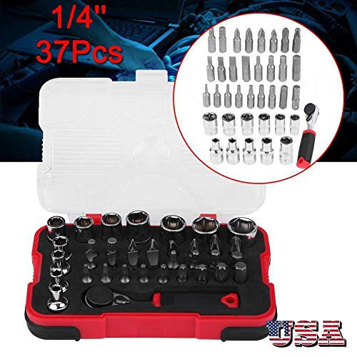 Ratchet Span Set - Generic NCH Set BitHand Tool He Car Repair 37Pcs Set Spanner Set Hand Tool Socket 1/4
