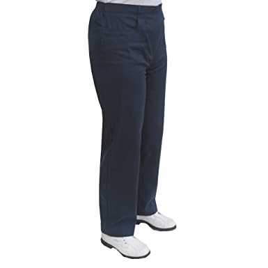 41244b21f298 Sportleigh Ladies Brushed Cotton Pull on Style Trousers in Navy Blue Size  20 (20 -