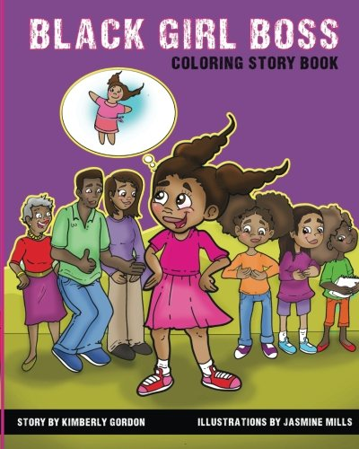Black Girl Boss: Coloring Story Book