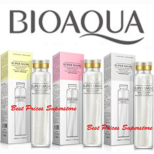 BIOAQUA Super Collagen Mask Herbal Moisturizes Soft Skin Smooth Nutrition 50ml 3PCS Set