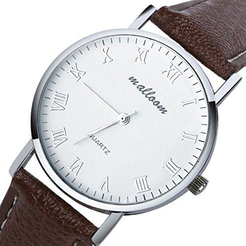 Lightning-Deals-Price-Mostsola-Luxury-Business-Men-White-Dial-Brown-Strap-Quartz-Watches