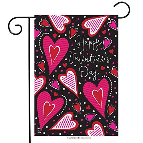 "Dancing Hearts Valentine's Day Garden Flag Primitive 12.5"" x"