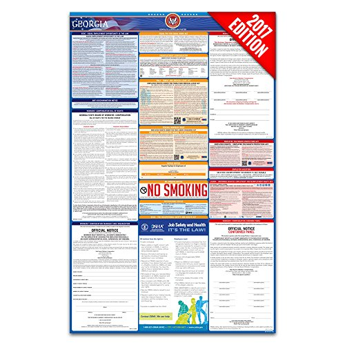 2017 Georgia Labor Law Poster – State & Federal Compliant – Laminated