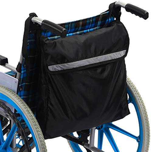 Wheelchair Bag Wheel Chair Storage Tote Accessory for Carrying Loose Items and Accessories - Travel Messenger Backpack - Accessible Pouch and Pockets