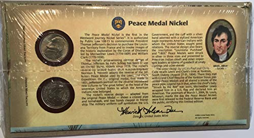(2004 P & D Peace Medal Nickel US Mint First Day Cover)