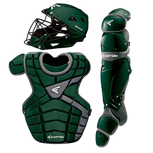 Easton M10 Youth Custom Catchers Set, Green/Silver