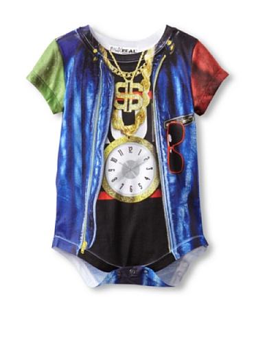 Infant: Old School Rapper Costume Romper Infant Onesie Size 6 Mos